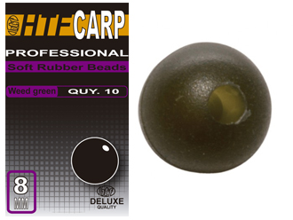 HTF CARP soft rubber bead Translucent Brown 8 mm.