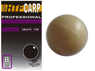 HTF CARP SOFT RUBBER BEADS SANDY 8MM