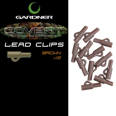 Covert Lead Clips Brown 12 Unid.