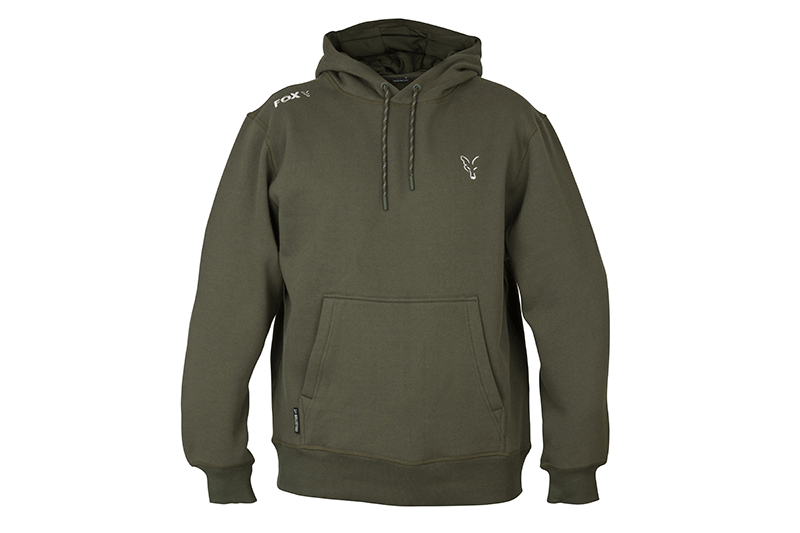 Fox Coll  Green Silver  LW Hoodie SMALL