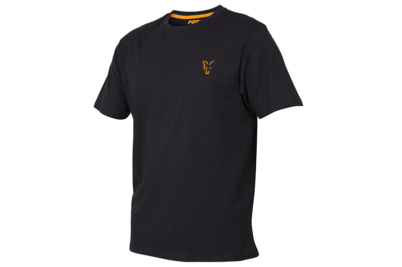 Fox Coll black Orange T- Shirt  SMALL